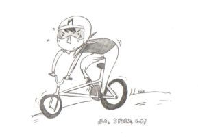 he's a demon on wheels by dragon-san