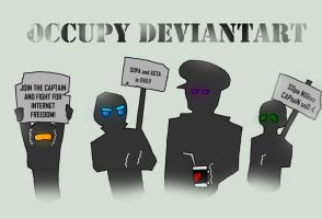 OCCUPY DEVIANTART (school project) by einhajar12