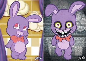 Five Nights at Freddy's Art Card 2 Bonnie Bunny by kevinbolk