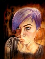 Drawing Project - Self Portrait by avawonzie