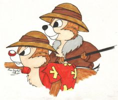 Chip 'n Dale Rescue Rangers by LARvonCL