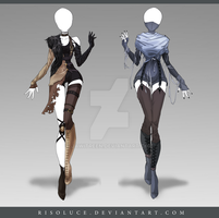 (CLOSED) Adoptable Outfit Auction 145 - 146 by Risoluce