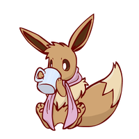 Eevee loves Coffee by sunnyfish