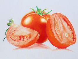 Tomato - Colored Pencils by f-a-d-i-l