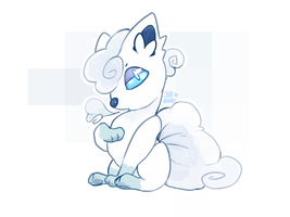 Day 4 - Alolan Vulpix by Tackytician