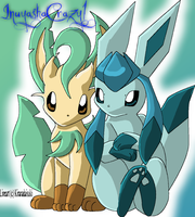Leafeon and Glaceon by inuyashacrazy1