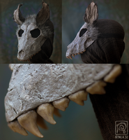 Grey Wolf Skull Mask by Nymla