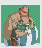 Asterix and Obelix anime style by Carlos-MP
