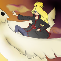 Deidara Flying High by RavenKun15