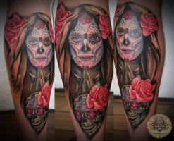La Catrina Santa Muerte by 2Face-Tattoo