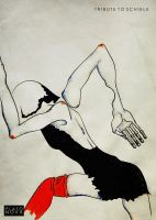 Tribute to Schiele by DragonOfLust