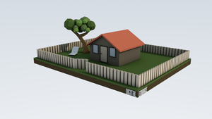 Miniature Low Poly House by digital-embrace