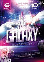 01 Galaxy Night Party Template A3 by sluapdesign