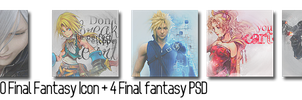 100 Final Fantasy Icon + 4 PSD by proHjects