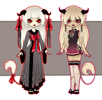 Asian Demoness Sisters [Adoptables] CLOSED by Siraviena