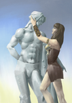 Xena and Heraclus by arodnelps