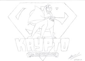 Krypto The Superdog by DarkWolf210
