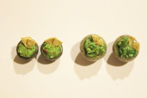 Polymer Clay Guacamole Studs by CharmStop