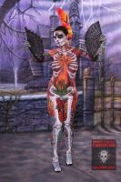 Full Body Sugar Skull Front by arynthefox