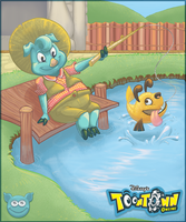 Toontown Fishing by kozispoon