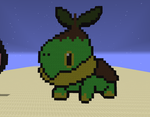 Minecraft Pixel Art Turtwig by ShadowBonadow