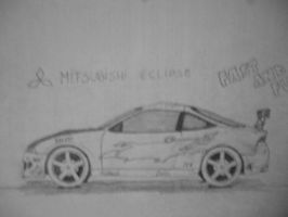 Mitsubishi Eclipse from FnF [Car drawing] by Danchix