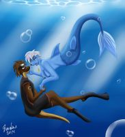 Swim with Me [Art Trade] by The-B-Meister