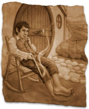 Bilbo and his Pipe by Gurila