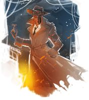 Fallout 4 - Nick Valentine by maXKennedy
