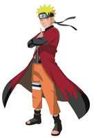 Naruto sage mode render by AHMEDOVICCE