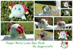 Paper Mario Lady Bow Plush *SOLD* by DogerCraft