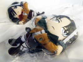 For Sale-GELevi and Mikasa plushies by CL-Pinkskull