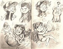 Gravity Falls Sketches by sharkie19