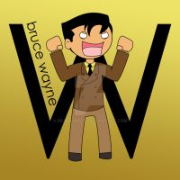 W is for Bruce Wayne by imJEANNEus