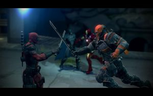 Deadpool vs Deathstroke by DRV3R