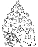 Christmas Tree Page by Writer-Colorer