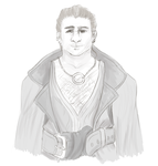 Varric Sketch by That-Nerdy-Red-Head