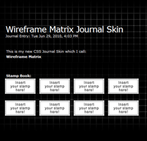 Wireframe Matrix Journal Skin by DJ-Zemar