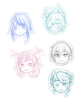 Sketch chib heads by BlueberryDuckling