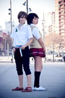 Twelve x Lisa, Zankyou no Terror by Doriri-chan
