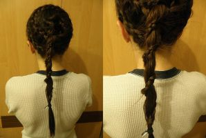 Spiral Braid with Spiral Ponytail by Czarna712