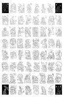 64 IPhone Sketches by adrianperezacosta