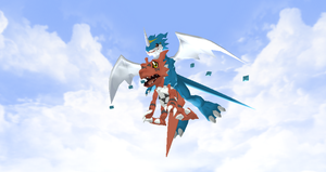 Exveemon rigged by Valforwing