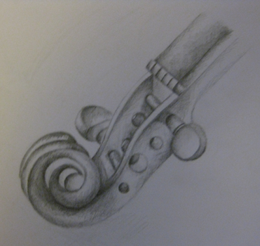 Pencil Violin by from-yesterday-xx