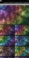 12 Colourful Grunge Textures by HollowIchigoBanki