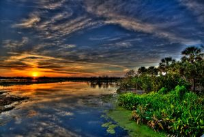 Green Cay Sunset 2 by QNetX
