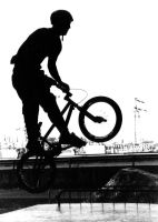Black and white BMX backlight by rotellaro