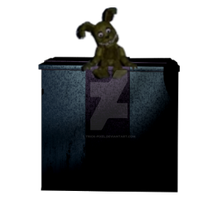 Plushtrap sitting on the Music Box by unforgiven-squidkid