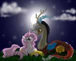 Celestia and Discord by Sugarcup91