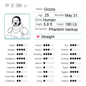 Grizzly info card by odst04
